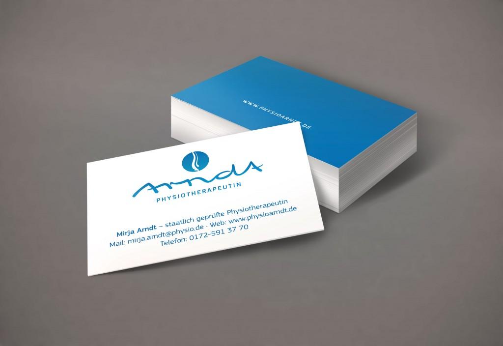 Visitenkarten Werbung Geschäftspapier modern