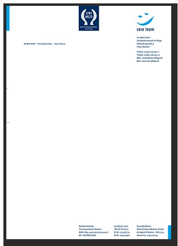 Briefbogen Gestaltung