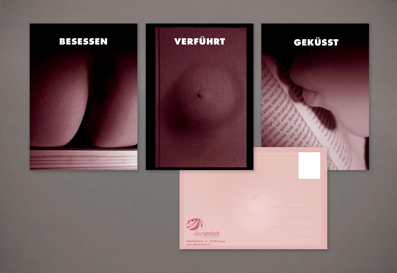 Postkarten erotische Buchhandlung Fotografie Gestaltung