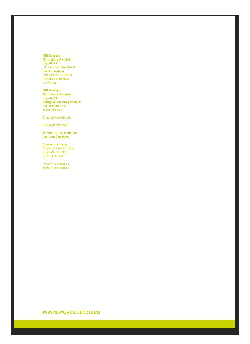 Briefpapier Gestaltung