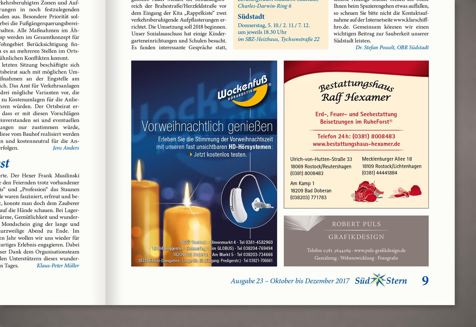 Puls Grafikdesign · Anzeigen-Werbung · Gestaltung · Rostock