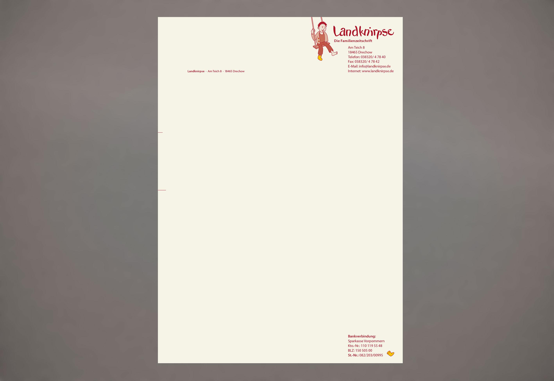 Gestaltung Briefbogen Familienzeitschrift Corporate Designs