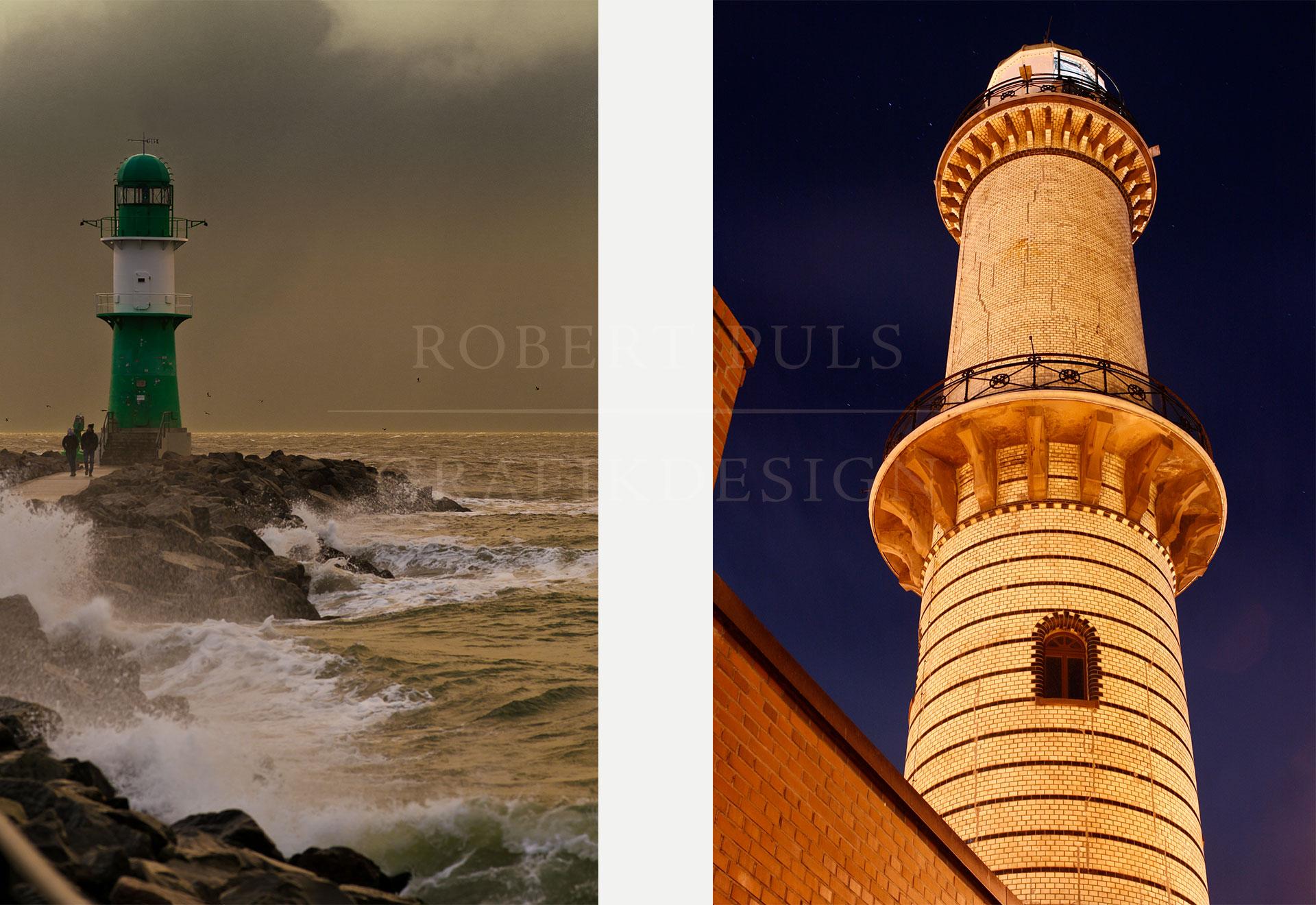 Fotos Warnemünde professionell Mole Leuchtturm
