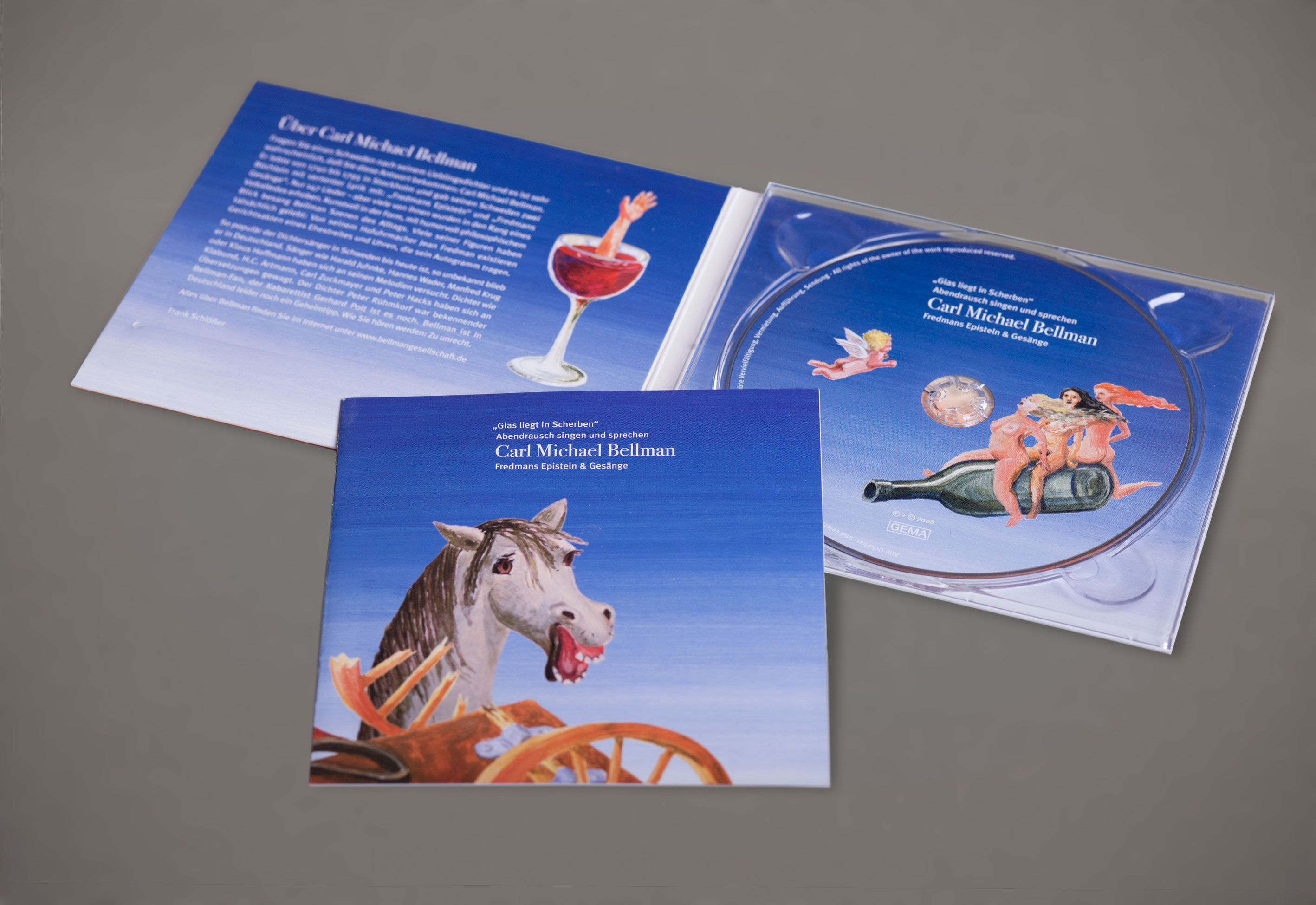 CD-Cover Booklet Labelgestaltung