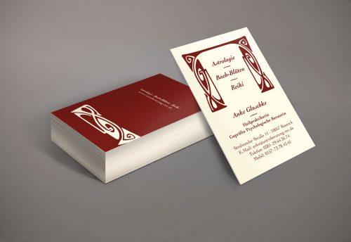 Visitenkarte Hochformat Gestaltung Agentur