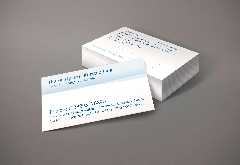 Visitenkarten Arztpraxis Puls Grafikdesign Grafikdesign