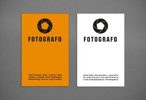 Visitenkarte Gestaltung Fortograf