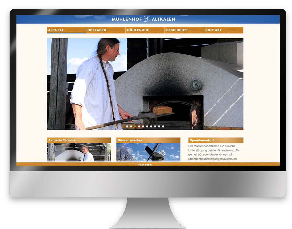 Webdesign Website homepage
