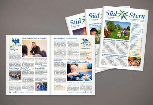 Zeitungslayout Editorialdesign