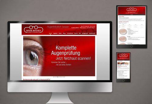 Webdesign Rostock Optik Boysen Webseite