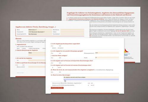 Interaktives Formular Gestaltung Agentur