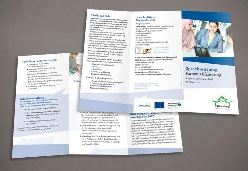 Flyer Gestaltung Bildung Sprachmittlung