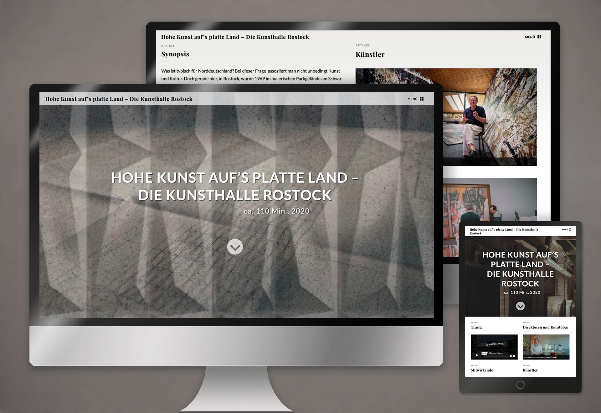 Webdesign Kunsthalle Rostock – Hohe Kunst auf´s platte Land (Film)